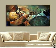 "Hand Paint MODERN Abstract Art Wall Hang Oil Painting Canvas 24""x48"" No Frame"