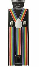 100+ Colors Mens Womens Clip-on Suspenders Elastic Y-Shape Adjustable Braces