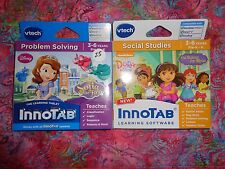 Lot 2 VTECH INNOTAB GAME CARTRIDGES Disney Sofia & Dora and Friends Lot#25