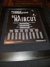 George Thorogood Get A Haircut Rare Original Radio Promo Poster Ad Framed! #2
