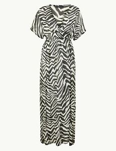 Perfect for summer - BNWT M&S Beachwear zebra print maxi dress 8 10 14 18