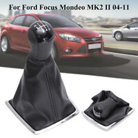 6 SPEED Shift Knob Stick & Boot Gaiter Gaitor Cover For Ford Focus C-Max  < !
