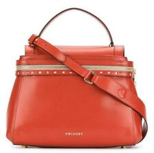 Twinset simona barbieri Cecile Leather Medium Red Bag