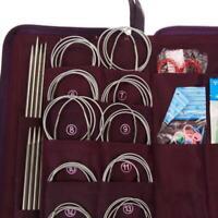 104pcs Stainless Steel Straight Knitting Needles Crochet Hook Weave Set AU
