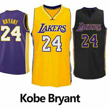 Kobe Bryant LA Lakers #24 NBA Basketball Gold/Black/Purple Jersey - S - XXL