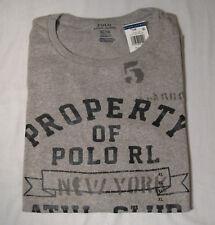 Polo Ralph Lauren Crew Neck Short Sleeve Graphic Tshirt NWT XL Gray