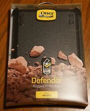 NEW Open Box Otterbox Defender Series Case & Stand for Apple iPad Air 2 Black