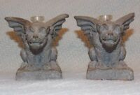 2 1/2 Inch Tall Gargoyle Oil Candle Figure ~ Set of 2 ~ Decorative Collectibles