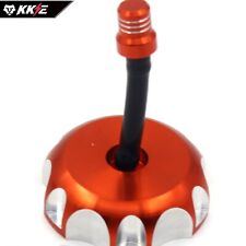 CNC Billet Gas Fuel Cap Tank Cover Fit KTM 50 65 80 125 200 250 300 360 Orange