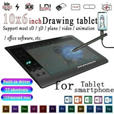 "Large Screen 10x6"" Graphics Drawing Tablet USB Art Painting Board Quick ReadiJO"
