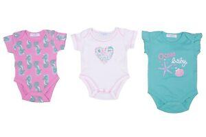 Baby Mädchen Strampler Einteiler Body Set 3-er Pack NEU Größe 50/56 62/68