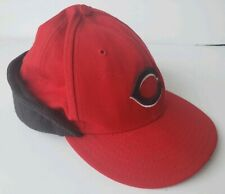 Cincinnati Reds New Era 59Fifty Red Black Flap Down Fitted MLB Hat Cap 7 1/2