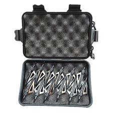 12Pcs Broadheads 125 Grain Compound Bow Crossbow Arrowheads Black with Case