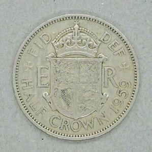 GB Half Crown Coin~1959 Queen Elizabeth II~Copper Nickel~KM#907~VF~Old Coin~#593