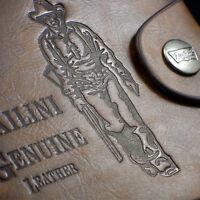 MENS DESIGNER QUALITY REAL LEATHER WALLET CREDIT CARD HOLDER PURSE