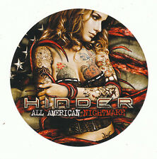 Hinder All American Nightmare Rare promo sticker '10