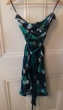 women's green warehouse boobs tube dress size 8 in good condition