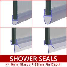 Bath Shower Screen Door Enclosure Seal Strips 4 - 6mm 8mm 10mm Curved Flat Glass