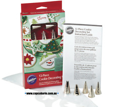 12pc Cookie Decorating Set - Wilton Piping Tips, Stencils & Disposable Bags