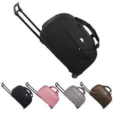 "24"" Rolling Wheeled Tote Duffel Suitcase Carry On Trolley Bag Travel Luggage USA"