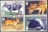 LIBERIA 2005 World Wide Fund for Nature (WWF), Jentink's Duiker ** DOUBLE PRINT