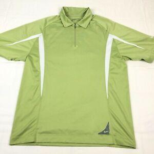 Nike Golf Shirt Mens Medium 1/4 Zip Polo Fit Dry Green Short Sleeve Athletic