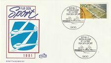 GERMANY 10 APRIL 1981 SPORTS FIRST DAY COVER BONN SHS (d)