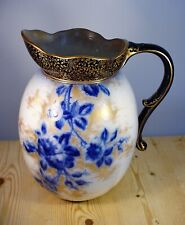 Doulton Burslem Art Nouveau Flow Blue Wash Jug