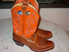 Womens Justin L2659 Vintage Wildfire Orange Western Cowgirl Boots! Size 9