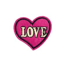 Love Heart (Iron on) Embroidery Applique Patch Sew Iron Badge