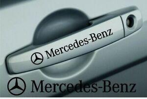 MERCEDES BENZ SMALL SYMBOL DOOR HANDLE DECALS STICKERS GRAPHICS X 4 Any Colour