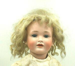 Antik Puppe gem. 141 10 Charakter-Gesicht Kurbelkopf Biskuit-Porzellan