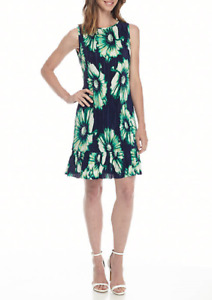 NEW MADISON LEIGH BLUE FLORAL SHIFT DRESS SIZE 12 SIZE 16 $90