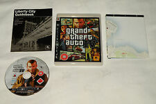 PS3 GAME GTA IV with Booklet & Map (2008) (UK Pal Region 2).