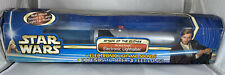 2002 Star Wars Attack of The Clones Obi-Wan Kenobi Electronic Lightsaber w/ Box