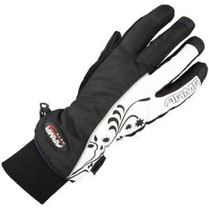 ARMR Moto Ladies LWP225 Waterproof Thermal Motorcycle Motorbike Glove Blk Wht