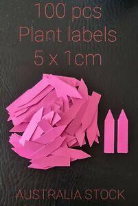 100 Pcs Plant Marker Labels Flexible Plastic Garden Tag Seedlings - 5x1cm Pink