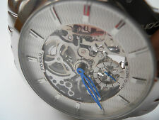 Fossil skeleton Automatic men's water resistant stainless steel watch.ME-1028
