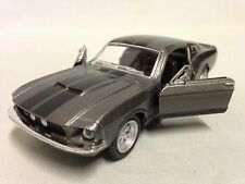 "1967 Ford Shelby Mustang GT-500 5"" Diecast Car 1:38 Pull Back Kinsmart Toy Gray"