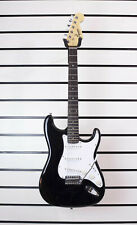 Squier by Fender Electric Guitar Black Stratocaster Strat With Tremolo Z90