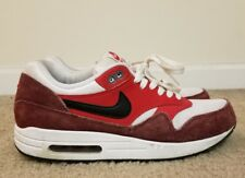 Nike Air Max 1 Essential AM1 537383-116 White Black University Red Shoes Size 9