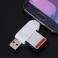 USB/Micro USB 2.0 OTG Card Reader TF/SD Memory Card Adapter For Phone PC Laptop