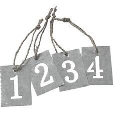 Christmas Count Down Number Zinc Metal Jute String Number Tags Wall Hangings