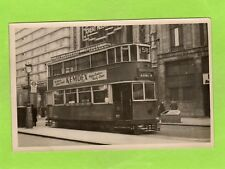 No 58 Tram Blackwall Tunnel via Catford London old pc sized photo Ref E188