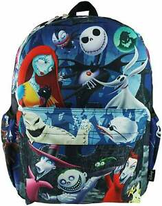 """Disney's Nightmare Before Christmas Jack and Sally Deluxe Large 16"""" Backpack"""