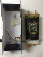 Judaica Beautiful Sefer Torah Scroll Hebrew Jewish Bible 32 CM + Pointer (YAD)