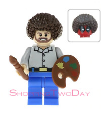 Bob Ross Deadpool Painting Lego Moc Custom Minifigure Toys Collection Gift