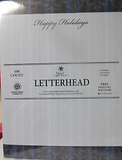 Christmas Letterhead  Happy Holidays - 8.5x11 Paper 100 Sheets NEW