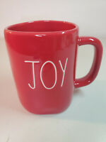 "Rae Dunn by Magenta Holiday Christmas Red ""JOY"" Coffee Mug  NEW"