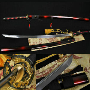 Handmade Japanese Samurai Battle Ready Dragon Sword Katana Full Tang Blade sharp